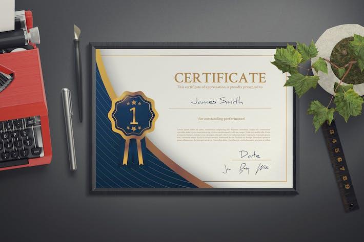 Thumbnail for Modern Certificate Template