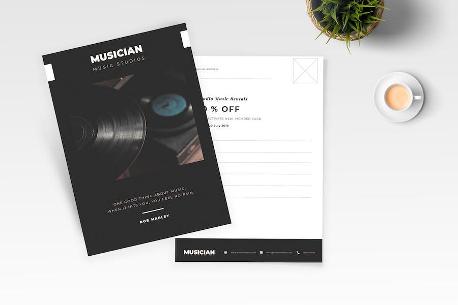 Music Postcard Flyer
