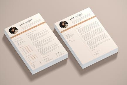 Minilist CV Resume & Cover Letter Template