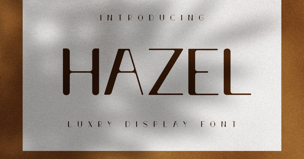 Download Hazel - Luxury Display Font by andrewtimothy