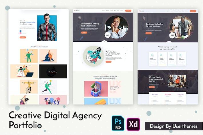 Thumbnail for Atrima - Creative Digital Agency Portfolio PSD