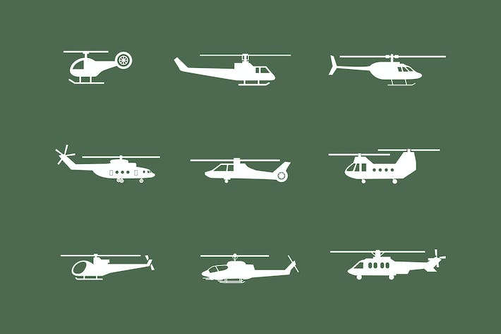 Thumbnail for 9 Helicopter Icons