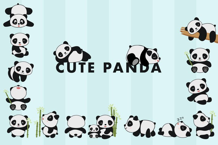 Thumbnail for Cute Panda Hand Drawn