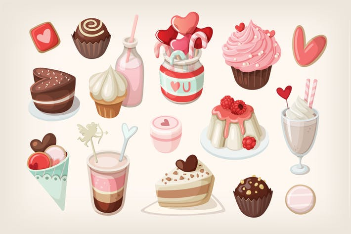 Thumbnail for Valentine day food and desserts