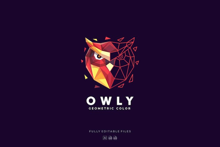 Thumbnail for Owl Poly Colorful Logo