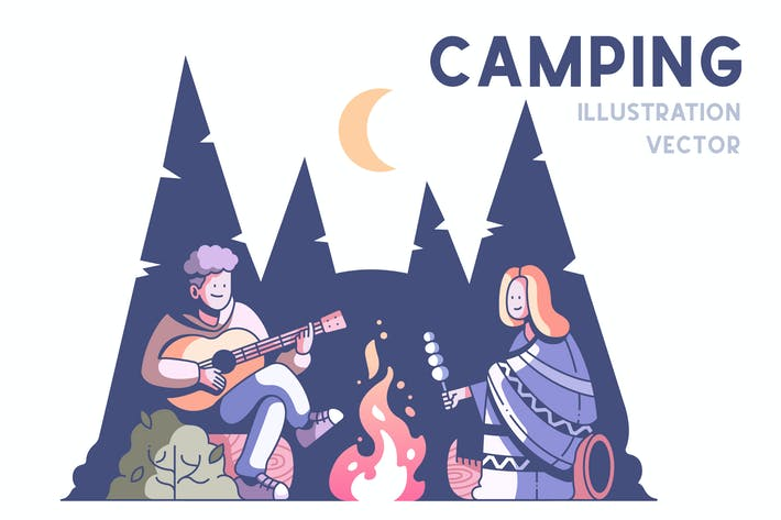 Thumbnail for Couple camping