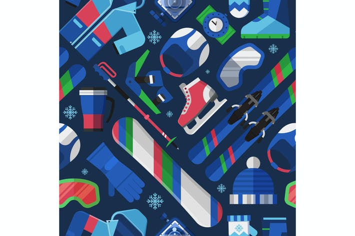 Thumbnail for Winter Sports and Games Pattern
