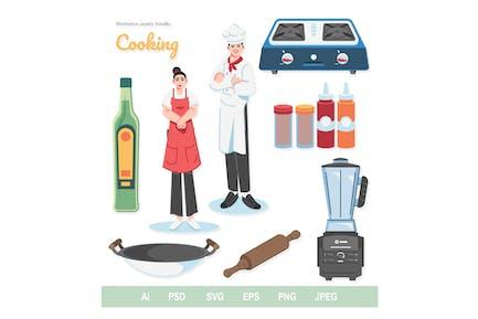 Cooking - Illustrationen