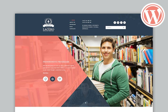 Thumbnail for Lacero - Education & University WordPress Theme