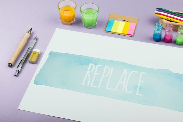 Thumbnail for Watercolor Paint Mockup Template #8