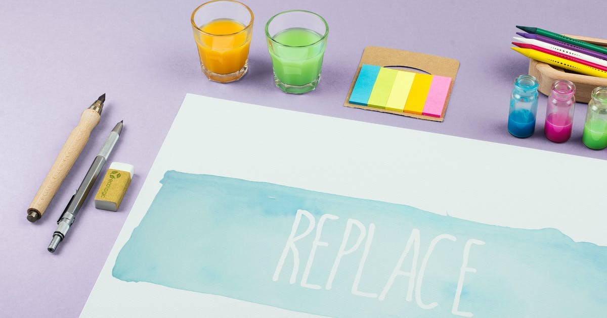 Download Watercolor Paint Mockup Template #8 by MockupZone