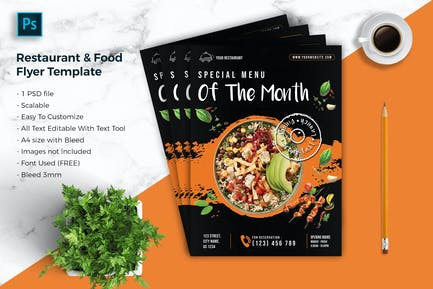 Restaurant & food Flyer Template vol-05