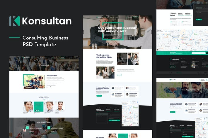 Thumbnail for Konsultan | Consulting Business PSD Template