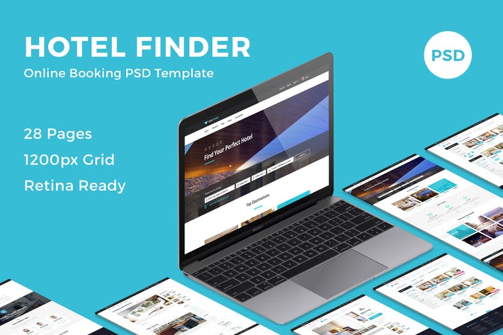 Thumbnail for Hotel Finder - Online Booking PSD Template