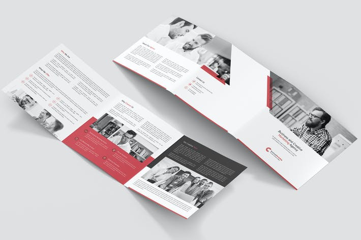 Thumbnail for Brochure – Business Marketing Tri-Fold Square
