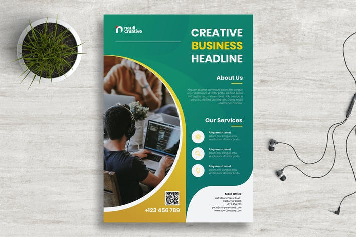 Thumbnail for Corporate Business Flyer PSD and Vector Vol.4