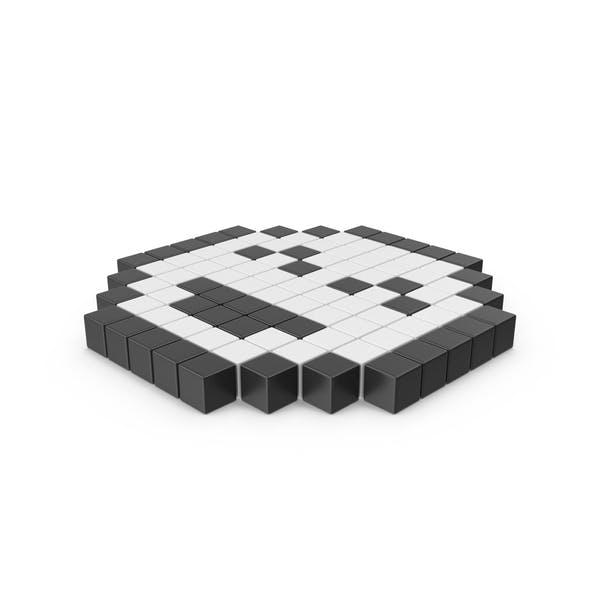 Pixelated Happy Emoji