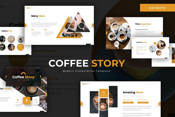 Thumbnail for Coffe Story - Keynote Template