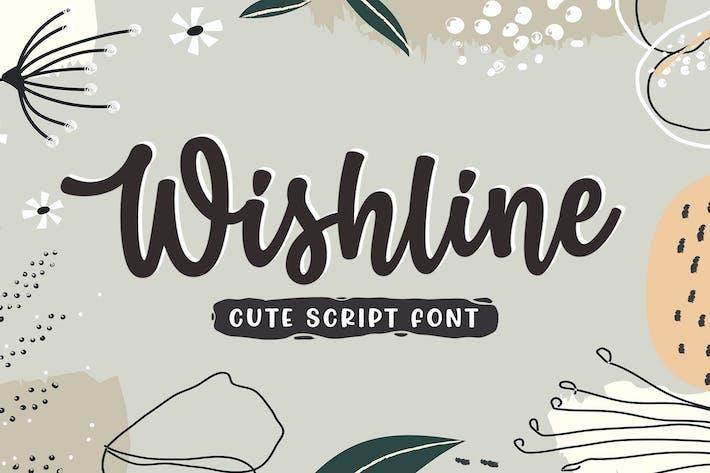 Thumbnail for Wishline - Cute Script Font