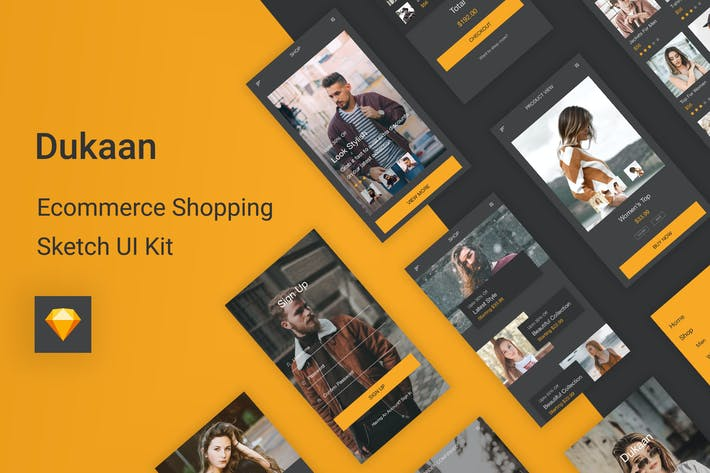 Thumbnail for Dukaan - Ecommerce Shopping Sketch UI Kit