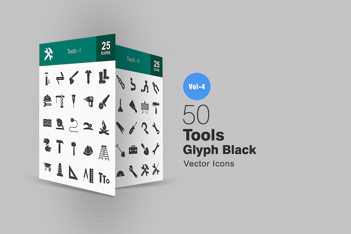 Thumbnail for 50 Tools Glyph Icons