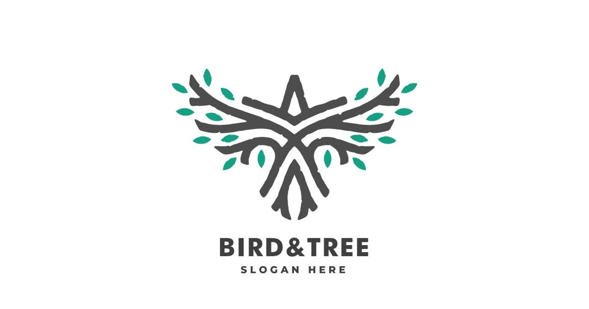 Download Bird and Tree Line Art Style Logo Template by ivan_artnivora