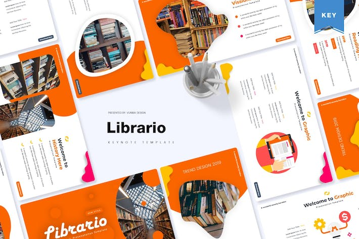 Thumbnail for Librario | Keynote Template
