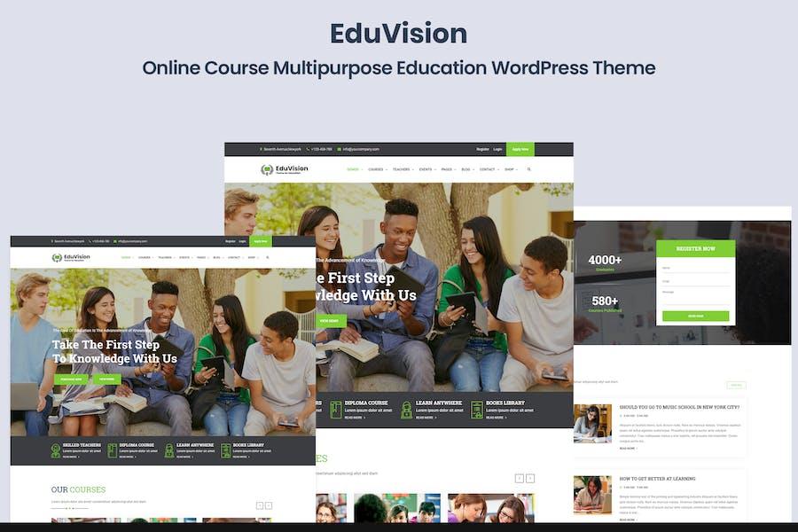 Eduvision - Online Course Education WordPress
