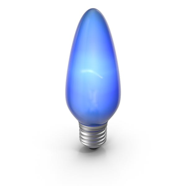 Pointy Lightbulb Blue Turned On