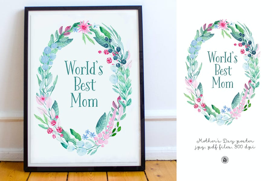 Mother's Day - watercolor poster