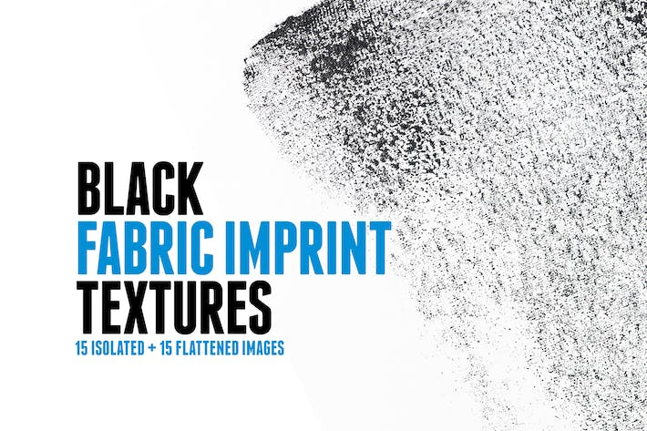 Thumbnail for 15 Black Fabric Imprint Textures
