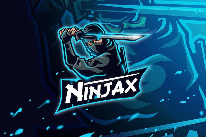 Thumbnail for Ninjax - Mascot & Esport Logo