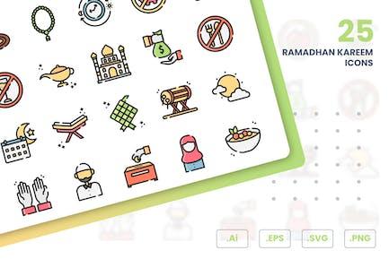 Ramadhan Kareem Icon Set