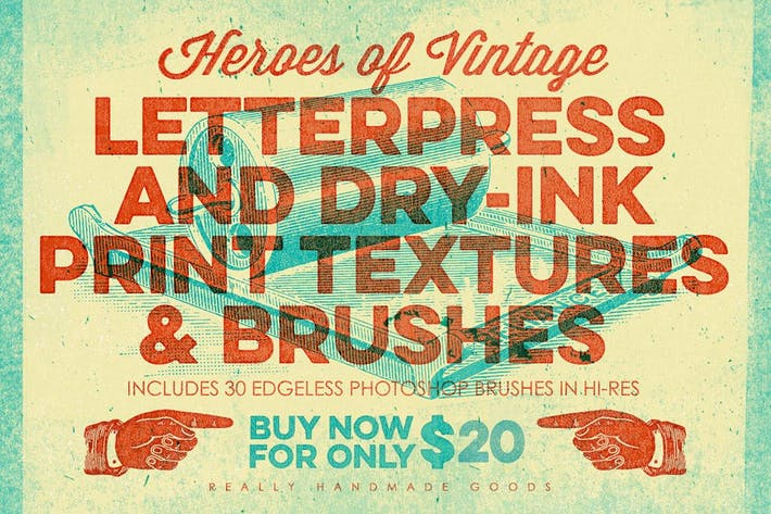 Thumbnail for Letterpress & Dry-Ink Print Textures