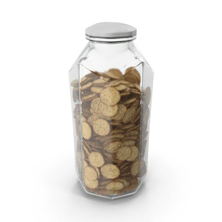 Octagon Jar with Circular Crackers