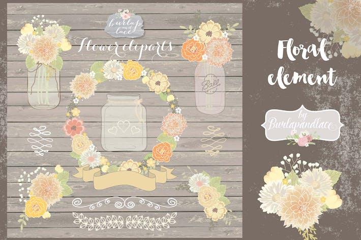 Thumbnail for Mason jar floral clipart
