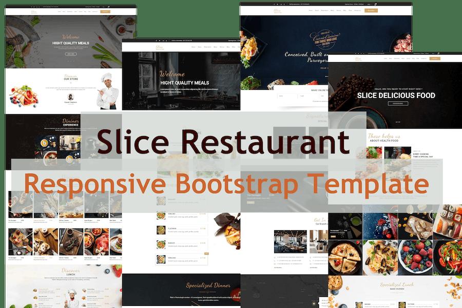 Slice Restaurant - Responsive Bootstrap Template