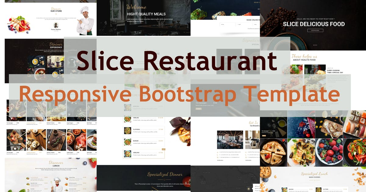 Download Slice Restaurant - Responsive Bootstrap Template by e-plugins