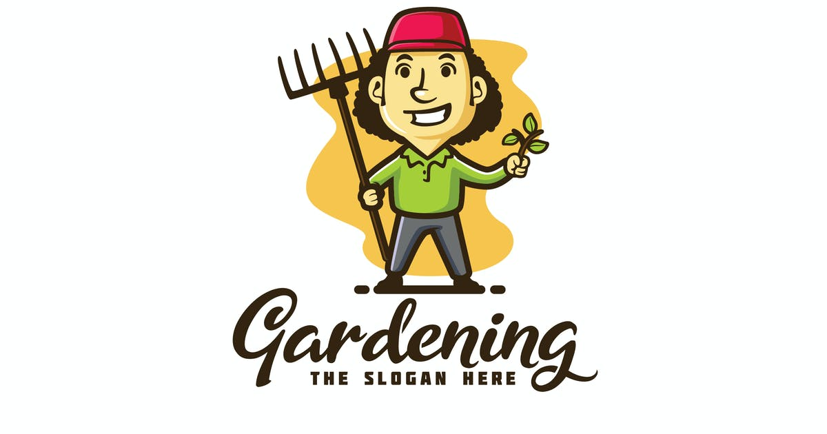 Download Gardener and Lawn Care Character Mascot Logo by Suhandi