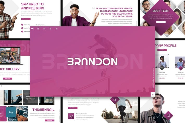 Thumbnail for Brandon - Creative Keynote Template