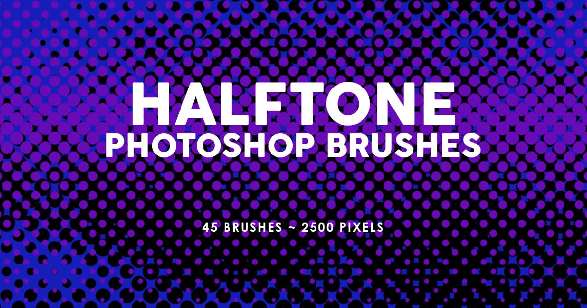 Download 45 Halftone Photoshop Stamp Brushes by M-e-f