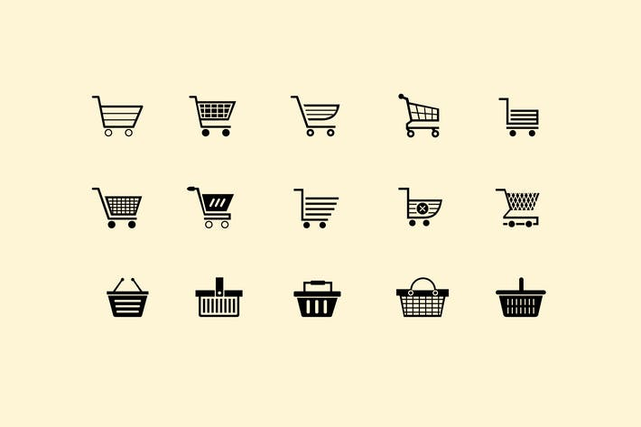 Thumbnail for 15 Shopping Cart and Basket Icons