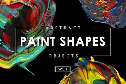 Abstrakte Acrylfarbe Formen