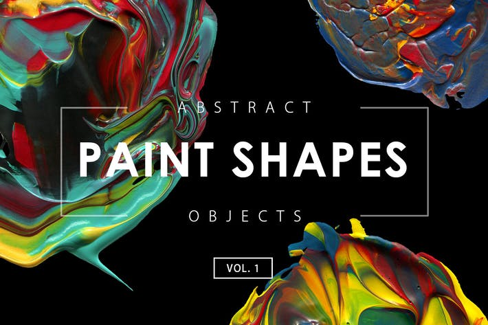 Thumbnail for Abstract Acrylic Paint Shapes