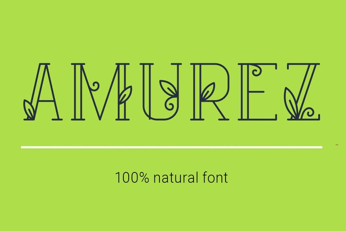 Thumbnail for Amurez - delicate natural font