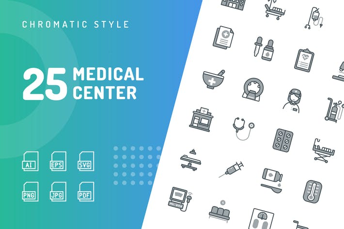 Thumbnail for Medical Center Chromatic Icons