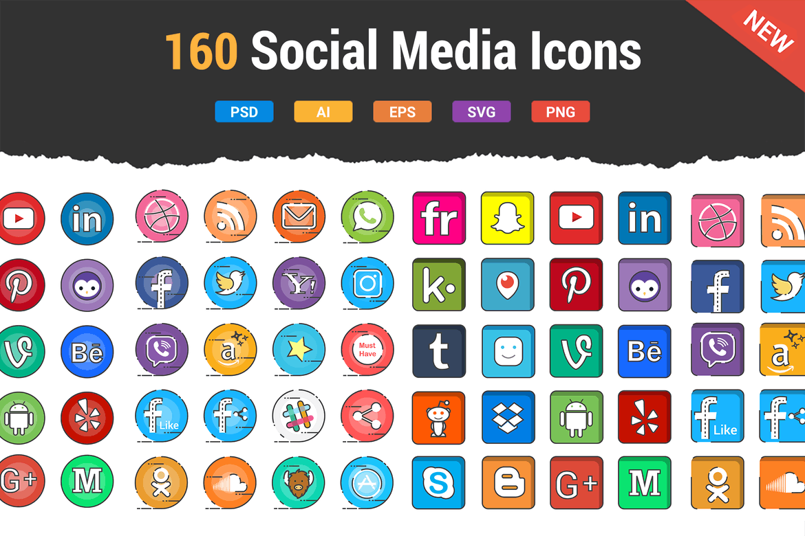 Top 50 Free Social Media Icon Sets