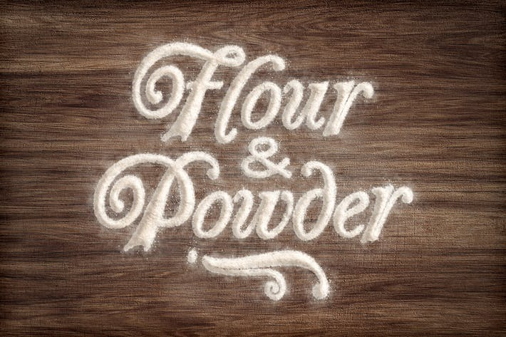 Thumbnail for Flour & Powder - Photoshop Actions
