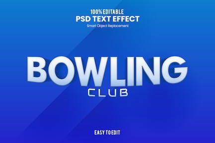 Боулинг - Спортивный PSD текстовый эффект