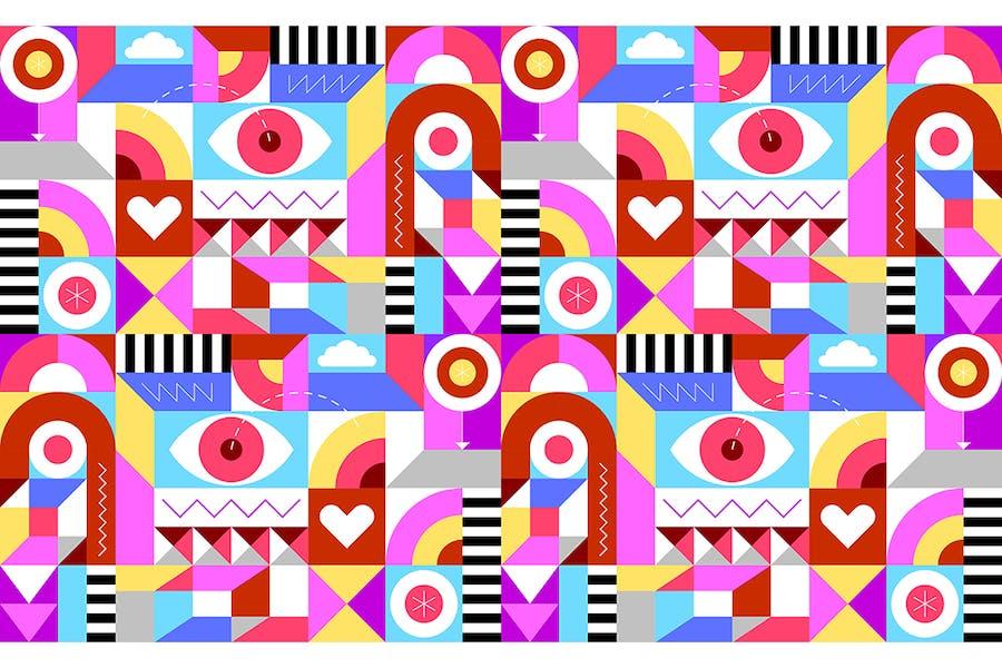 Cheerful Geometric Seamless Background
